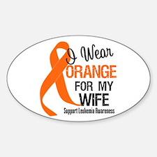 I Wear Orange Ribbon Oval Decal
