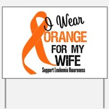 I Wear Orange Ribbon Yard Sign