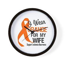 I Wear Orange Ribbon Wall Clock