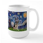 Starry / German Shepherd 10 Large Mug