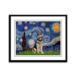 Starry / German Shepherd 10 Framed Panel Print