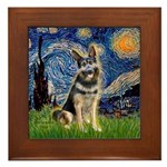 Starry / German Shepherd 10 Framed Tile