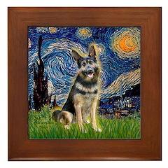 Starry / German Shepherd 10 Framed Tile