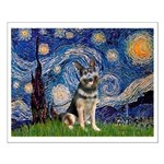 Starry / German Shepherd 10 Small Poster