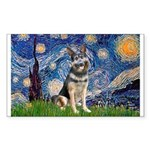 Starry / German Shepherd 10 Sticker (Rectangle 10