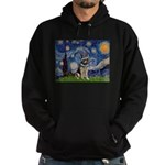 Starry / German Shepherd 10 Hoodie (dark)