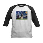 Starry / German Shepherd 10 Kids Baseball Jersey