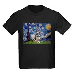 Starry / German Shepherd 10 Kids Dark T-Shirt