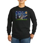 Starry / German Shepherd 10 Long Sleeve Dark T-Shi