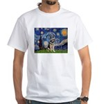 Starry / German Shepherd 10 White T-Shirt