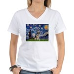 Starry / German Shepherd 10 Women's V-Neck T-Shirt