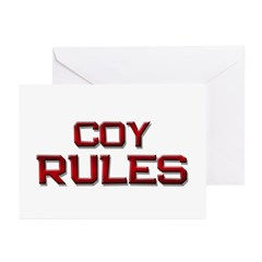 coy rules Greeting Cards (Pk of 10)