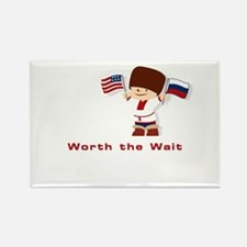 Russian Adoption 'Worth the Wait' Rectangle Magnet