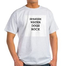 SPANISH WATER DOGS ROCK Ash Grey T-Shirt