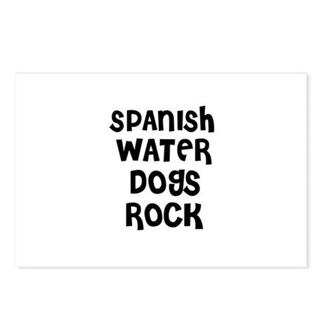 SPANISH WATER DOGS ROCK Postcards (Package of 8)