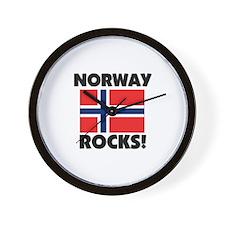 Norway Rocks Wall Clock