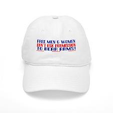 FREE MEN & WOMEN DON'T ASK PERMISSION Baseball Cap
