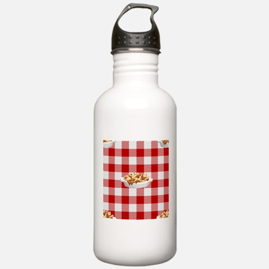 plaid poutine Water Bottle