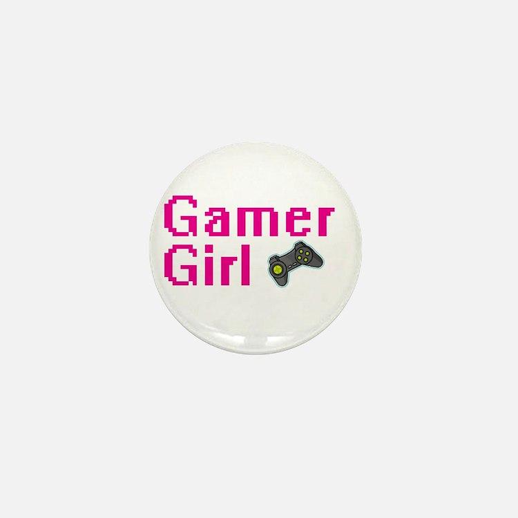 Gamer Girl Mini Button