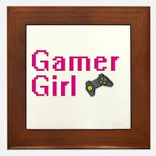 Gamer Girl Framed Tile