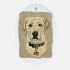 Kasey Yellow Lab Oval Ornament