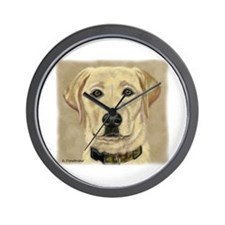 Kasey Yellow Lab Wall Clock