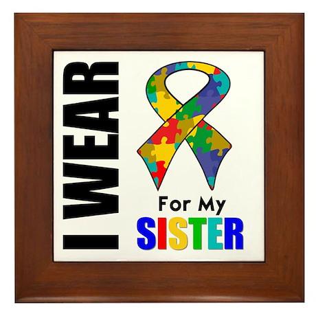 Autism Sister Framed Tile