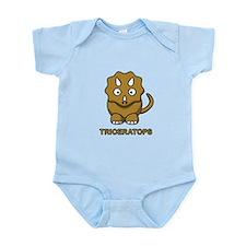 Cartoon Triceratops Infant Bodysuit
