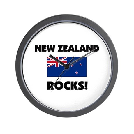 New Zealand Rocks Wall Clock