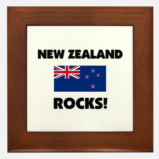 New Zealand Rocks Framed Tile