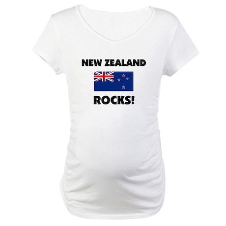 New Zealand Rocks Maternity T-Shirt