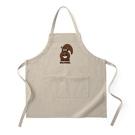 Cartoon Squirrel BBQ Apron