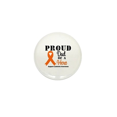 ProudDadLeukemiaHero Mini Button (10 pack)