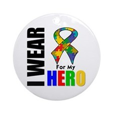 Autism Hero Ornament (Round)