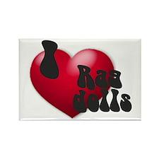 'I Love Ragdolls!' Rectangle Magnet