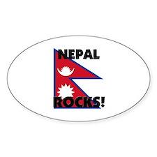 Nepal Rocks Oval Decal