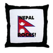 Nepal Rocks Throw Pillow