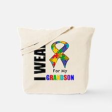 Autism Grandson Tote Bag