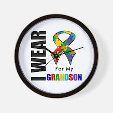 Autism Grandson Wall Clock