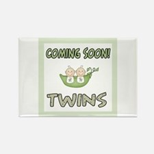 Coming Soon Twins Rectangle Magnet