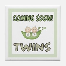 Coming Soon Twins Tile Coaster