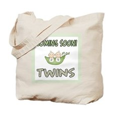Coming Soon Twins Tote Bag