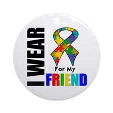 Autism Friend Ornament (Round)
