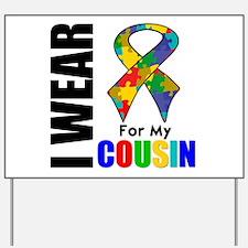 Autism Cousin Yard Sign