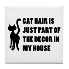 Funny Cat Lover Gift Tile Coaster