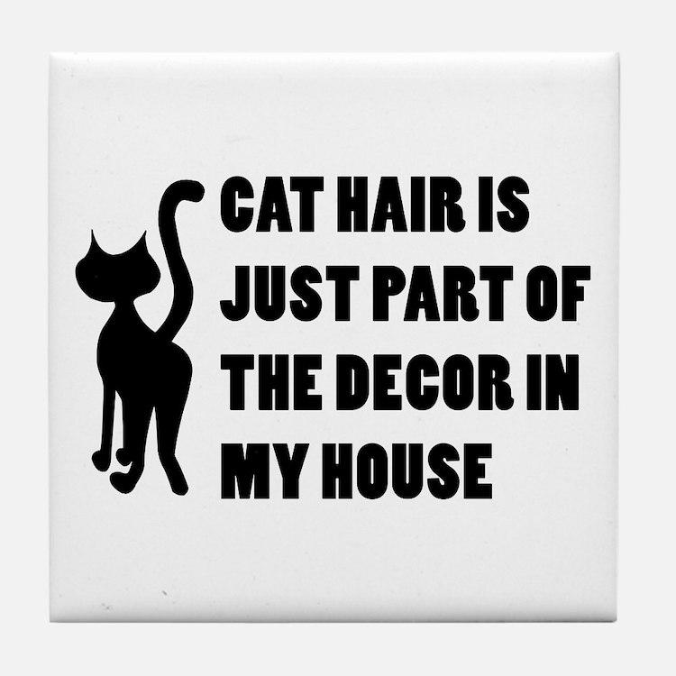 Funny Cat Lover Gift Tile Coaster