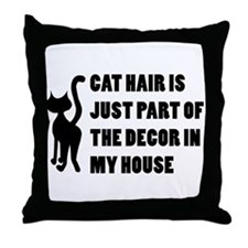 Funny Cat Lover Gift Throw Pillow