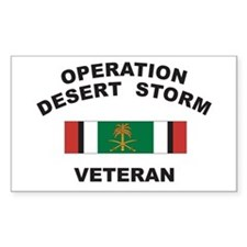 Kuwait Veteran 2 Rectangle Decal