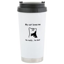 Sarcastic Cat Lover Gift Travel Mug