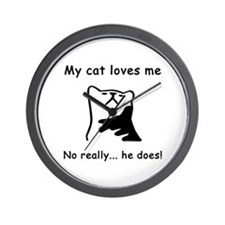 Sarcastic Cat Lover Gift Wall Clock